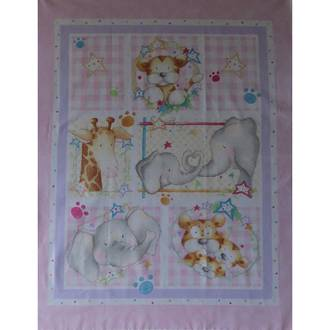 Baby Cot Panel - Pink